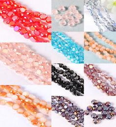 100pcs-Faceted-Rondelle-Glass-Crystal-Beads-Loose-Beads-Jewelry-Making-Gift-6mm