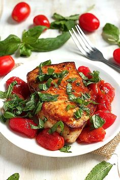 Sicilian Seared Swordfish with Spicy Olive Oil Poached Tomatoes (Baking Salmon Olive Oil)