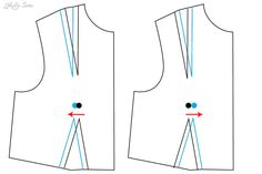 How to alter for wider or narrower bust point to bust point measurement - Bust Apex Adjustment Tutorial - Melly Sews
