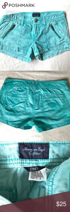 American Eagle Shorts -Low Rise Stretch -Good Condition -No Flaws -Worn twice American Eagle Outfitters Shorts
