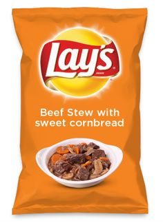 Wouldn't Beef Stew with sweet cornbread be yummy as a chip? Lay's Do Us A Flavor is back, and the search is on for the yummiest flavor idea. Create a flavor, choose a chip and you could win $1 million! https://www.dousaflavor.com See Rules.