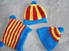 Gorros de bebé y niño de fallero de lana hecho a mano