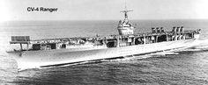 USS Ranger (CV-4), the first U.S. Navy ship built as an aircraft carrier from the keel up.