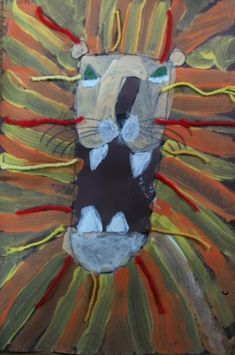 Roar! Lion Paintings (and a book) for First Grade » K - 6 Art