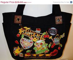 Welcome Spring Sale Black Canvas Tote Custom by paulagsell on Etsy, $15.20