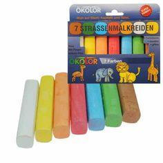 Stoepkrijt ökolor - 7 kleuren