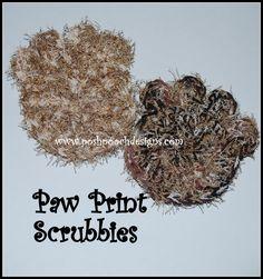 Posh Pooch Designs Dog Clothes: Paw Print Scrubby   Posh Pooch Designs