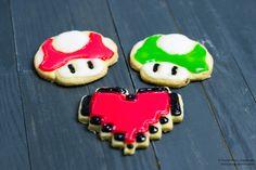 Delicious quick and easy videogame cookies /Schnelle und leckere Kekse mit Videospiel-Motiven  #cookies #pixel #videogames