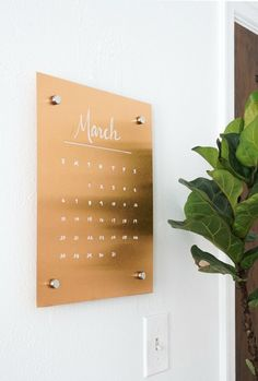Create this DIY copper message board and calendar to help you stay organized this spring.