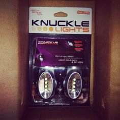 Light up the night with Knuckle Lights! #knucklelights #nightrun