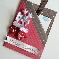 Really cute Double Pocket Fold Card christmas card - gift card holder Christmas Gift Tags, Xmas Cards, Handmade Christmas, Holiday Cards, Christmas Crafts, Merry Christmas, Christmas Car, Tarjetas Diy, Gift Cards Money