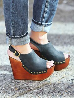 Jeffrey Campbell Olivia Wedge at Free People Clothing Boutique