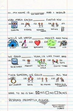Date request outline. Do couple things :D