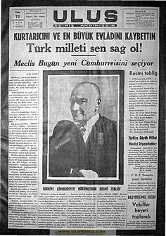Tarihi gazete manşetleri 1937 - 1942 gazete manşetleri Allah, Historical Quotes, Great Leaders, Passed Away, Animal Photography, Newspaper, Instagram Story, Nostalgia, Pergola