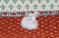 Миниатюрный ангорский кролик, масштаб 1:12