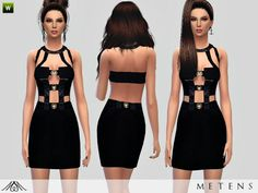 The Sims Resource: Tonight – Dress by Metens • Sims 4 Downloads