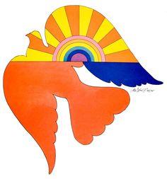 Milton Glaser ☆ Bird for Unicef Milton Glaser, Graphic Design Posters, Graphic Design Illustration, Illustration Art, Bob Dylan Poster, Art Challenge, Retro Art, Psychedelic Art, Retro Design
