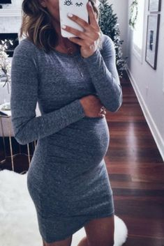 $25.99   Get this stylish casual maternity dress online at PopReal.com   Maternity Long Sleeve Short Dress   discover fashion Mom-to-be   Maternity Fashion   maternity dress   maternity style   maternity outfit   maternity wardrobe   pregnancy   casual maternity fashion   #affiliate
