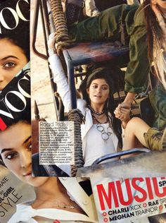 May 2015 Teen Vogue cover star Kylie Jenner wears Max Gengos inside the issue.