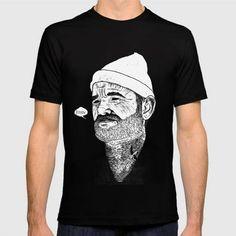 (Unisex Team Zissou T-Shirt) #BlackWhite#CapturingEveryMarkAndTextureOfTheOriginalPrintsIfYouWouldPreferToBuyAnOriginalPrintVisitHttpJohncthurbinBigcartelCom#Illustration#MoviesTv#People#TheseDigitalReplicasOfMyOriginalHandPrintedLinocutsAreOfTheHighestQuality is available on Funny T-shirts Clothing Store   http://ift.tt/2arDz5E
