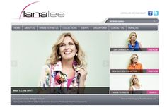 www.lanalee.com website, designed and developed by PearlWhiteMedia.com