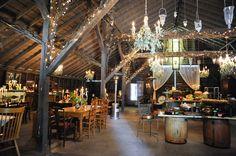 Barn Decor and Lighting Oxnard Barn Wedding