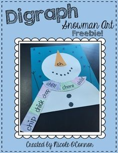 Digraph Snowman Craftivity FREEBIE!
