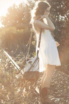 Little White Fox Dress - Spell Designs
