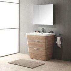 Web Photo Gallery Shop for Fresca Milano inch White Oak Modern Bathroom Vanity with Medicine Cabinet