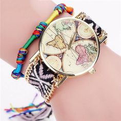 Handmade World Map Bracelet Watch - TU