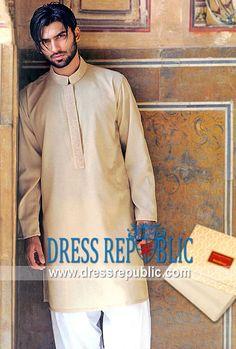 Style DRM1090, Product code: DRM1090, by www.dressrepublic.com - Keywords: Shalwar Kameez for Men in New York, Mens Kurta Salwar Kameez New York