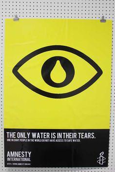 Student's poster for Amnesty International