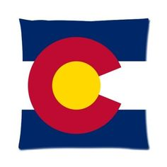 The State of Colorado Flag Square Pillowcase Pillow Case Covers 16 by Pillow fashiion -- Awesome products selected by Anna Churchill