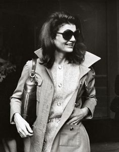 jackie o in her trench