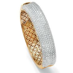 Glam it up in this designer-inspired multi-row bangle bracelet sparkling all over with cubic zirconia for a fabulous shPrice - $149-fIpVksdB