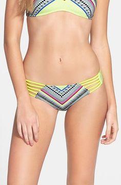 Junior Women's Rip Curl 'Mystic Tribe' Reversible Hipster Bikini Bottoms