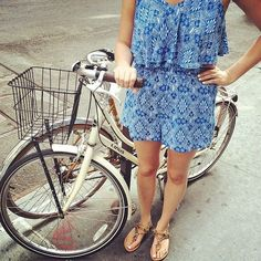 Morning bike ride!  #romper