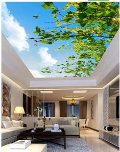 Find More Wallpapers Information about 3d mural designs Leafy branches butterfly ceiling Landscape wallpaper murals ceilings Home Decoration ,High Quality mural baby,China mural decoration Suppliers, Cheap mural paper from Europe 3d picture on Aliexpress.com Floor Design, Ceiling Design, House Design, Affordable Home Decor, Cheap Home Decor, Ceiling Murals, Wall Mural, European Home Decor, Wallpaper Decor
