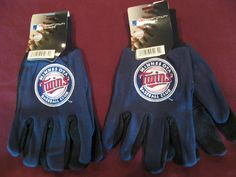 TWO (2) PAIRS OF MINNESOTA TWINS, ALL PURPOSE SPORT UTILITY GLOVES #MinnesotaTwins