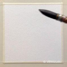 Watercolor Beginner, Watercolor Art Lessons, Watercolor Paintings For Beginners, Watercolor Landscape Paintings, Simple Watercolor, Painting Lessons, Watercolor Techniques, Watercolor Trees, Watercolor Animals