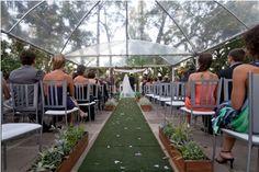 Sogipa Cerimônia de casamento corredor