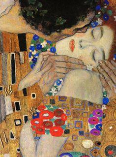 Detalle El beso, Gustav Klimt