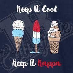 Phi Mu Shirts, Sorority Shirts, Cute Shirts, Ice Cream Design, Greek Design, Fourth Of July Shirts, Kappa Kappa Gamma, Custom Design Shirts, Sorority Crafts