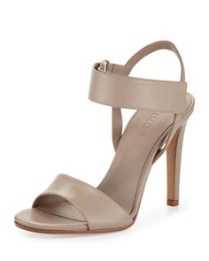 Genna Double-Strap Leather Sandal, Taupe by Vince at Bergdorf Goodman.