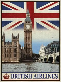 Vintage Travel London Giclee Print by The Portmanteau Collection at AllPosters.com