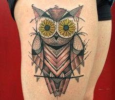 Tattoo Owl by Dino Nemec