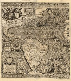 Sebastian mnsters map of the new world first published in 1540 diego gutirrez north and south america 1562 gumiabroncs Images