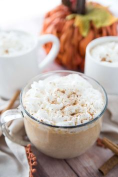 This Pumpkin White Hot Chocolate Recipe is a stovetop recipe that is so simple to make. Grab some ingredients and within minutes you have a rich and creamy pumpkin hot chocolate Hot Chocolate Recipe Chocolate Chips, Crock Pot Hot Chocolate Recipe, White Chocolate, Pumpkin Recipes, Fall Recipes, Party Recipes, Thanksgiving Recipes, Drink Recipes, Yummy Recipes