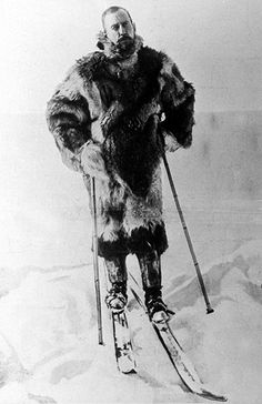 Explorer Roald Amundsen during his expedition the South Pole in 1911