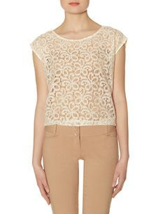 Dotted Lace Layering Top from THELIMITED.com #TheLimited #Tops #Lace #SpringStyle